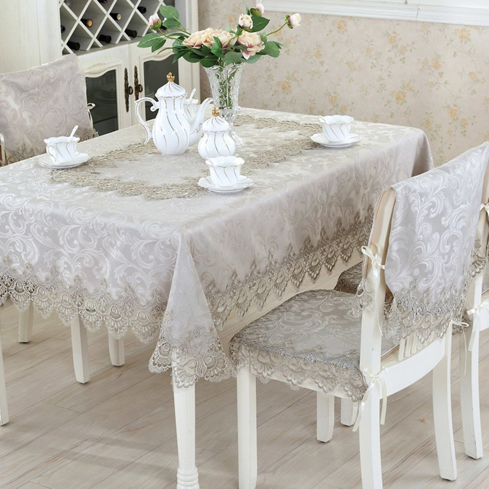 Get Quotations · Water Resistant Tablecloth,Tea Table Cloth,Lace [dining  Table] Square Table Top