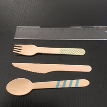 New Fashion High Quality Party Disposable Wooden Cutlery Set