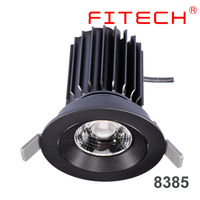 25W High power Citizen COB led recessed downlight fixture for glass cabinet lighting