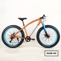 Wholesale Bicycles 26 inch 7 speed 4 .0 wide tires double disc bicycle MTB snow bike
