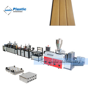 Automatic PVC wall panel making machine/production line