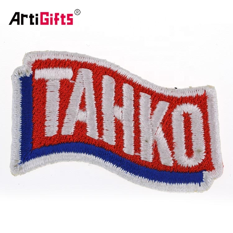Factory direct sale hand towel badge embroidery patch custom