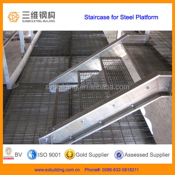 Steel Grating Platform with Grating Stairs
