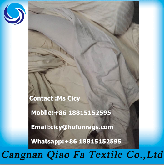 Industrial White Cotton Cleaning Rags Used Wiping Rags Absorb ...