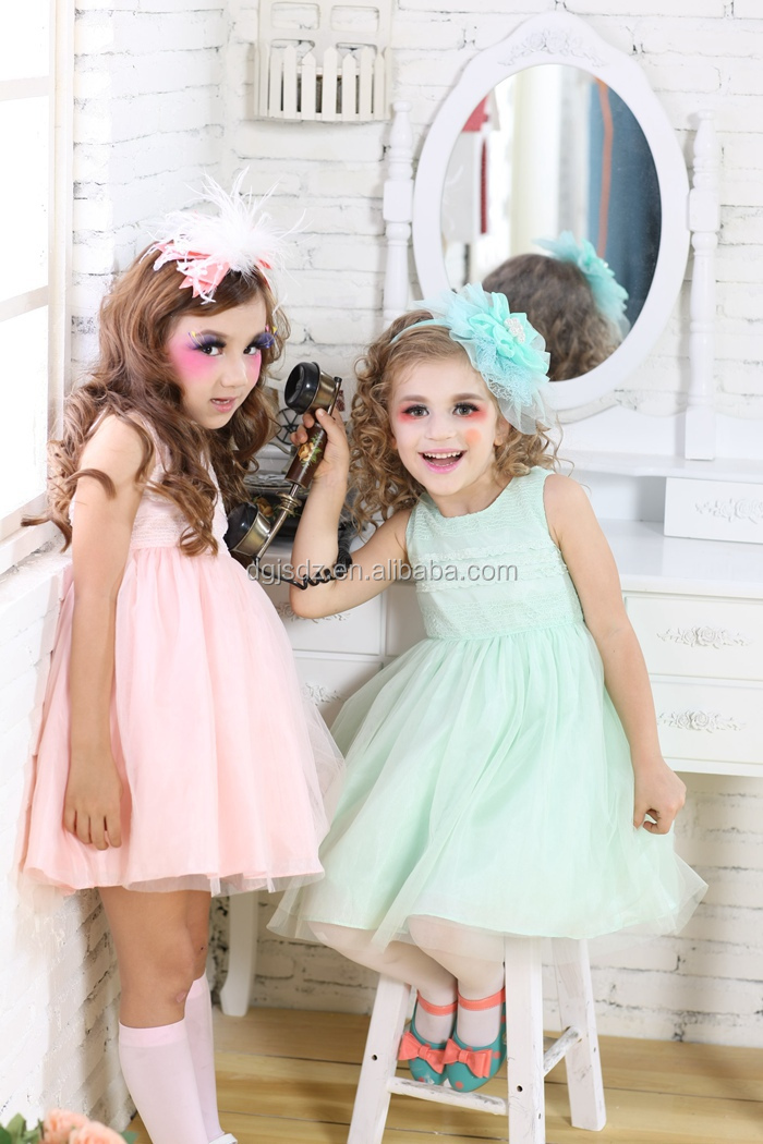 Großhandel Tüll Aufgedunsen Blume Mädchen Kleid Schnittmuster Rosa ...
