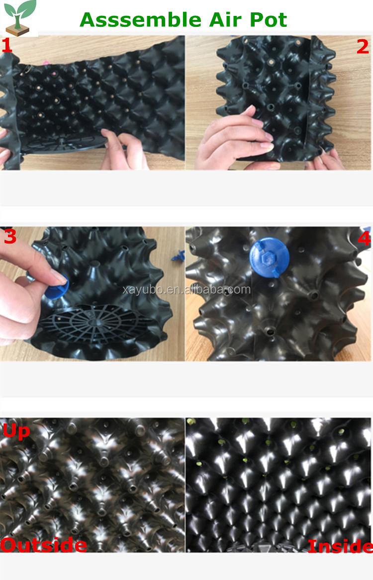 Stronger Black plastic Air Root Pot For Plant Root Control
