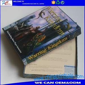 Wholesale color printing 2 pcspacker box for game card packaging