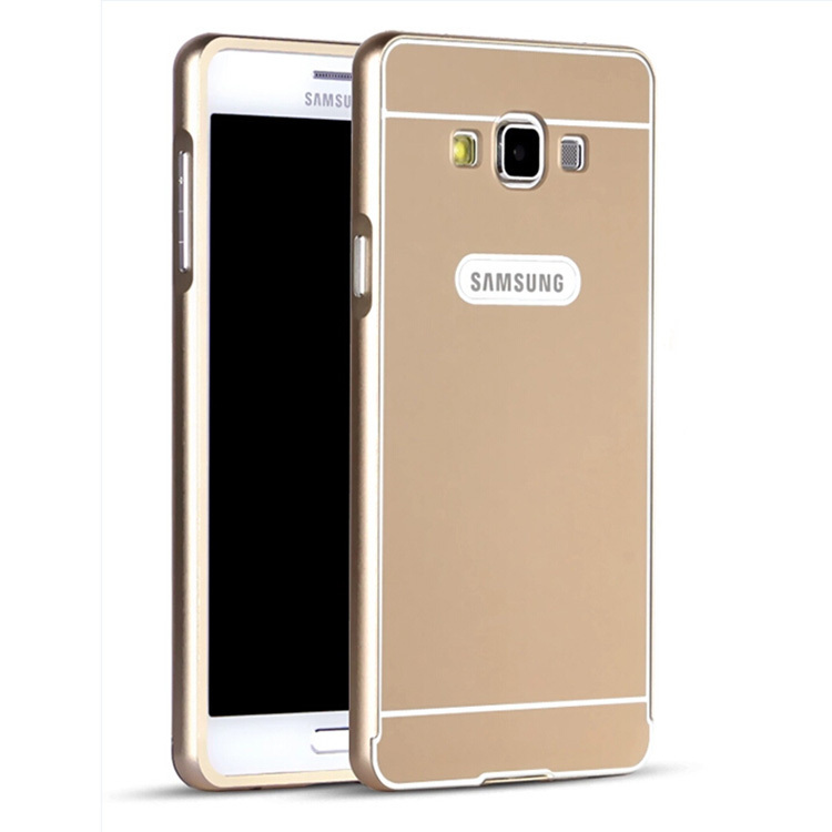 9d69f376833 Get Quotations · E5 Luxury Ultra thin Aluminum Metal+ Acrylic Glass Back Cover  Case for Samsung Galaxy E5 Phone
