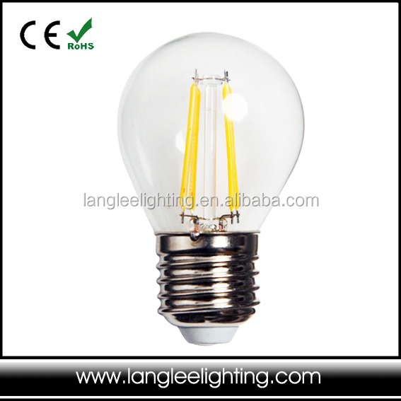 (100pcs) 2pcs filament G45 110v 110v 2w Glass led bulb <strong>e27</strong>