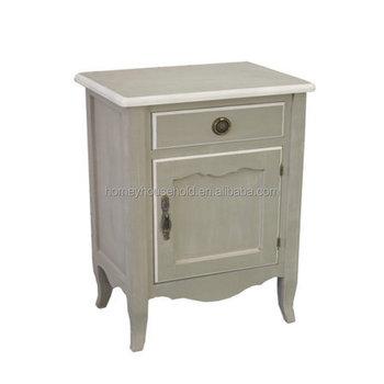 European Style Solid Wood Bedside Cabinet Luxury Nightstand