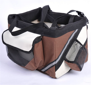 Pet Car Booster Seat Carrier of Front Bicycles Basket Dog Bike Pet Bag Carrier for Bicycle