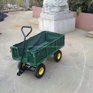 4 Wheel Steel Garden Cart With Removable Sides TC1840A