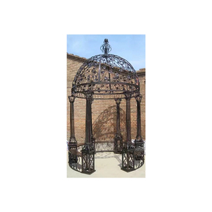 large size outdoor decoration garden landscape cast metal crafts wrought iron gazebo for hot sale IGL-09