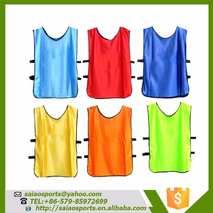 Custom logo printed average size bibs wholesale football training vest sport wear mesh vest