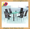 Offer high quality black/green 2 tiers bent tempered glass tea table coffee table