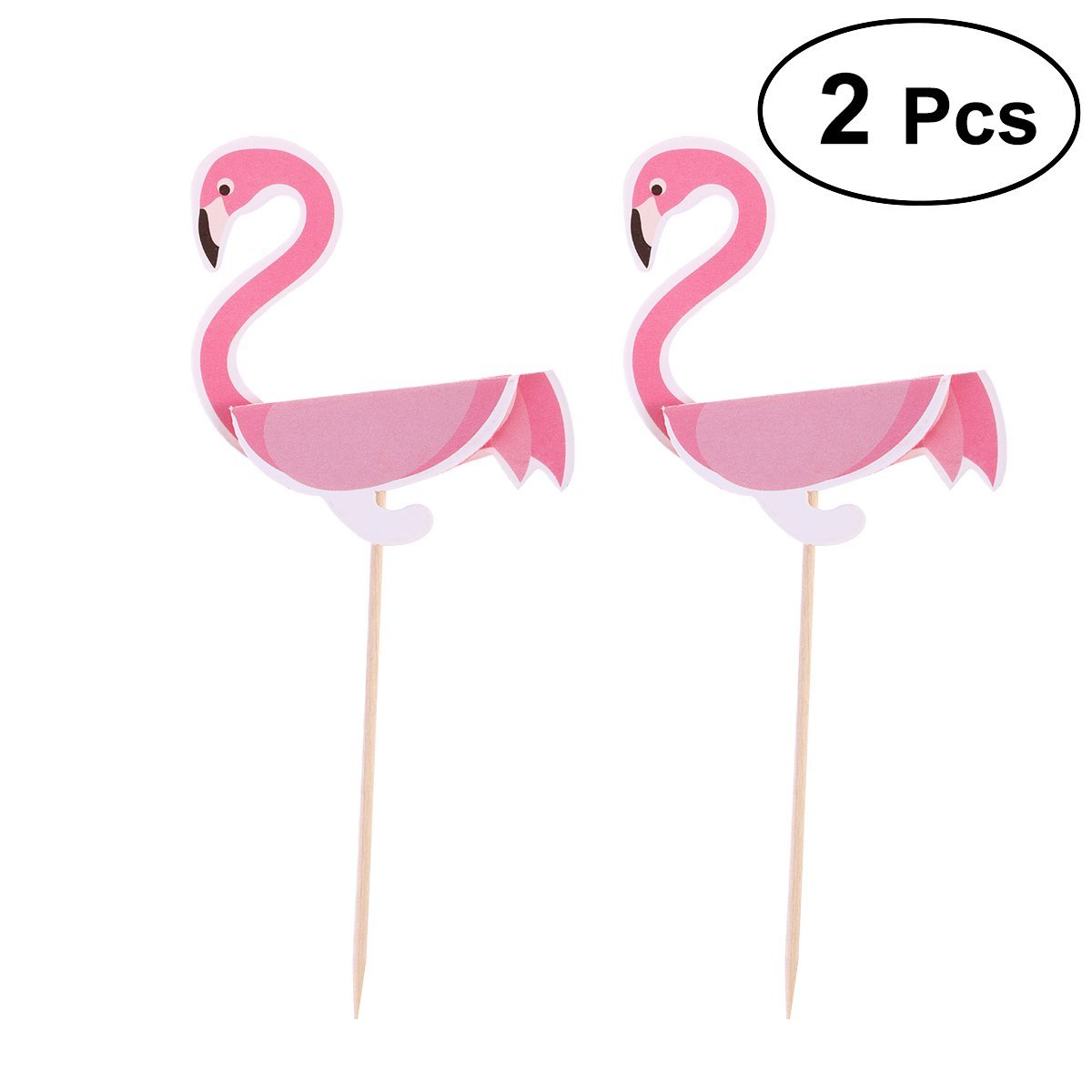 Get Quotations OULII Flamingo Cake Toppers Cupcake Picks 3D Luau Hawaiian Themed Party Favors Baby Shower Birthday