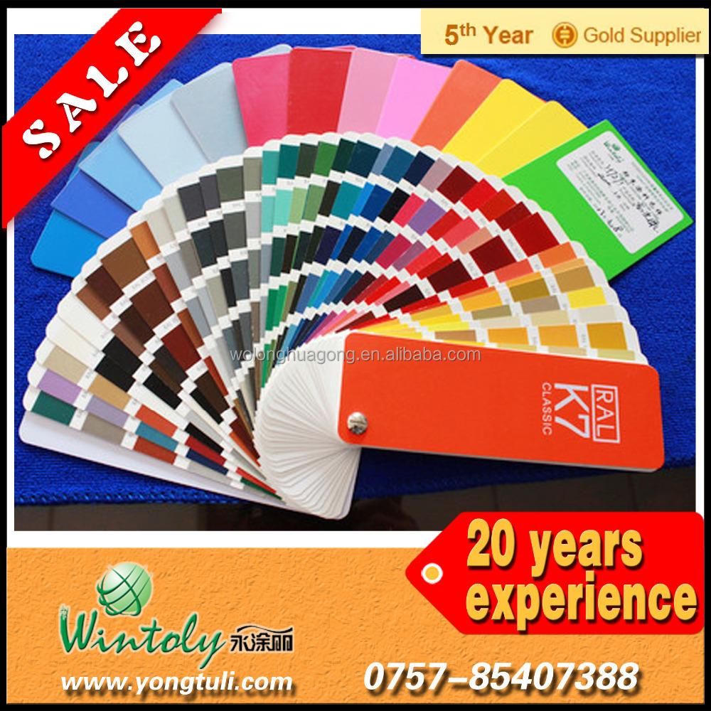 Spray Paint Ral Color Card High/semi/flat/matt Gloss Powder ...