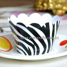 "2014 new product wedding favors ""zebra"" greaseprooof novelty cupcake wrappers for decoration"