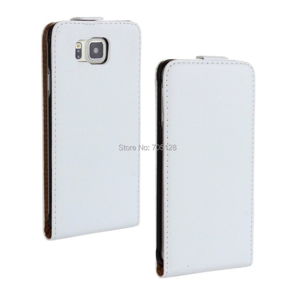 Buy Genuine Leather Case For Samsung Galaxy Alpha G850f Luxury G850 50pcs Lot Solid Color Series Flip Casefree Shipping