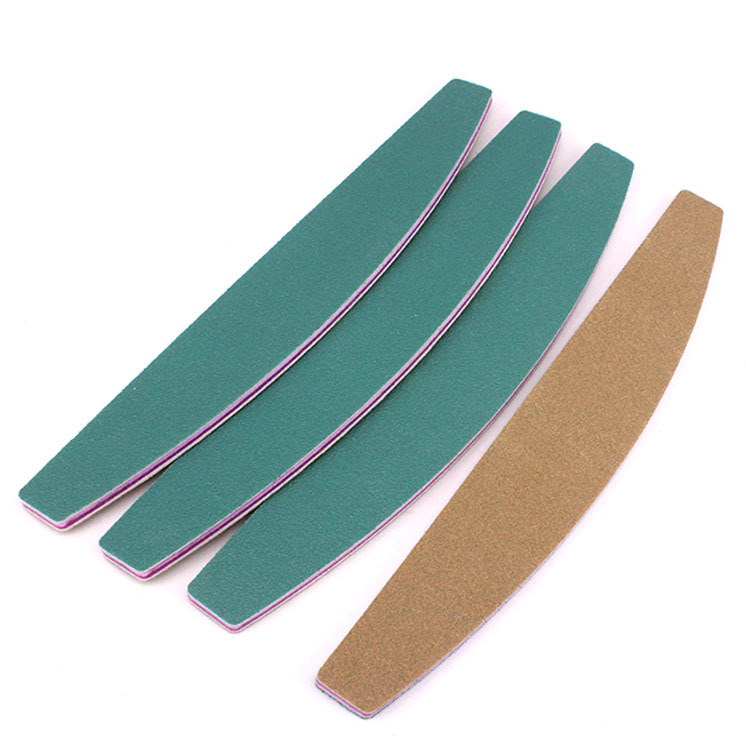 QQ-43 10pcs/lot Nail Art Sanding 100/180 Grit File With C-Curved Side Manicure Pedicure Nail Tools EVA Nail Files Accessories Ho