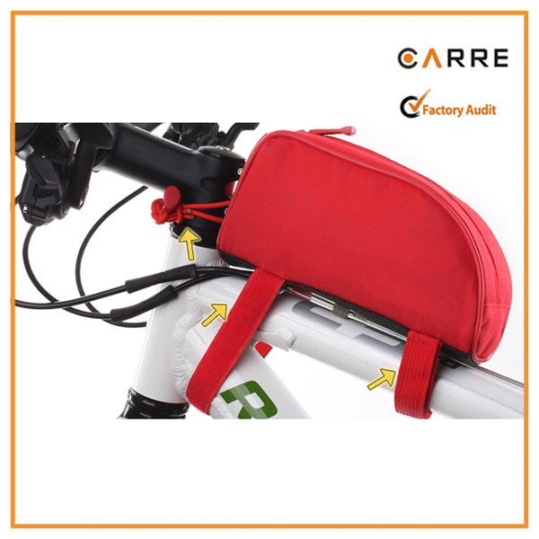 custom made cycling bicycle bike bag for front top tube