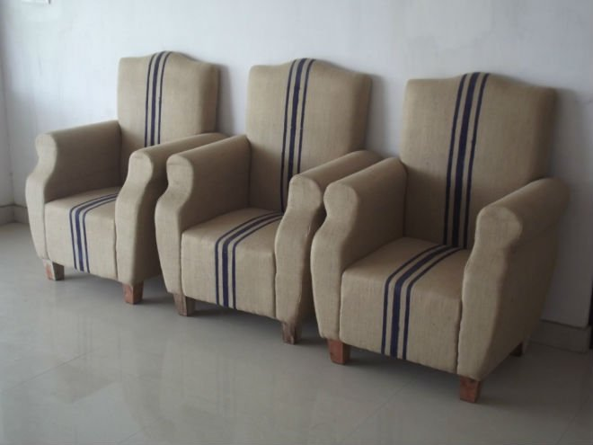 Jute Sofa Puff Fabric Product On Alibaba