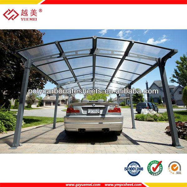 Car derramada cochera cubierta refugio de policarbonato for Toldos para estacionamiento