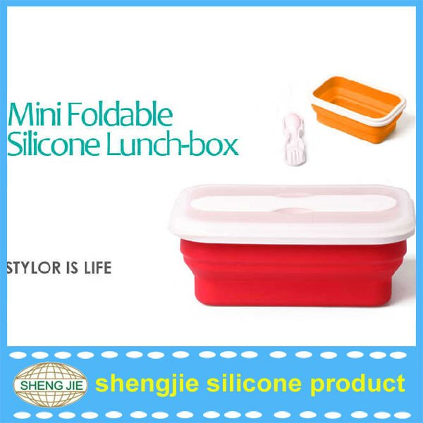 Environment Silicon foldable lunchboxes
