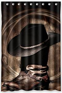 833619f055e Get Quotations · American West Rodeo Cowboy Black Felt Hat Atop Worn  Western Boots Vintage Style Beautiful Design Waterproof