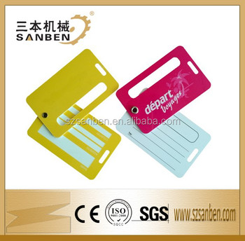 Standard size plastic pvc color id card luggage tagplastic business standard size plastic pvc color id card luggage tag plastic business card luggage tags for colourmoves