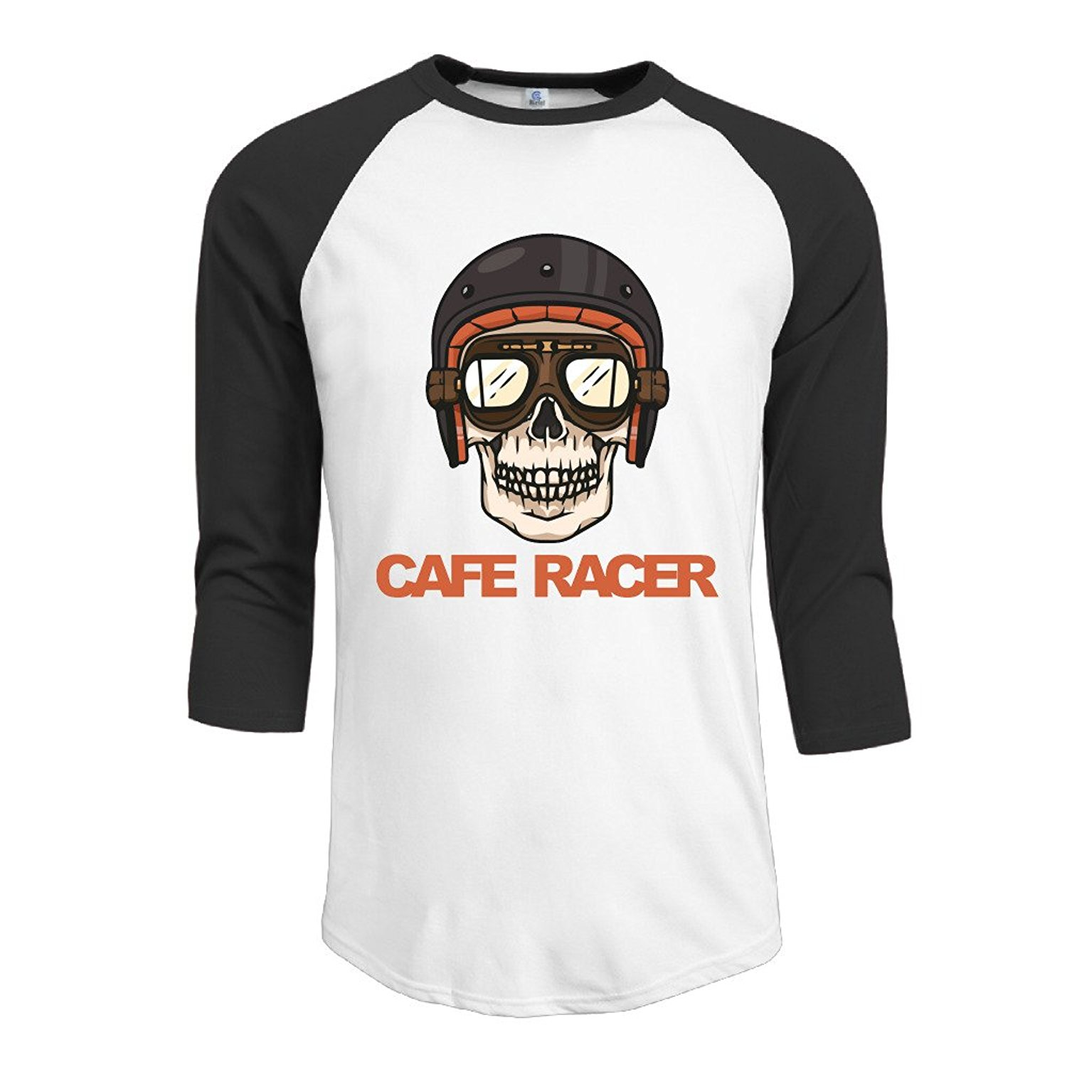 32bff98a Get Quotations · Cafe Racer Motorcycles Bikes Men's Raglan Baseball Jersey T -Shirts Crew Neck