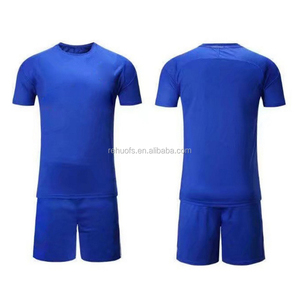 2018 cheapest high quality design your own blue soccer jersey