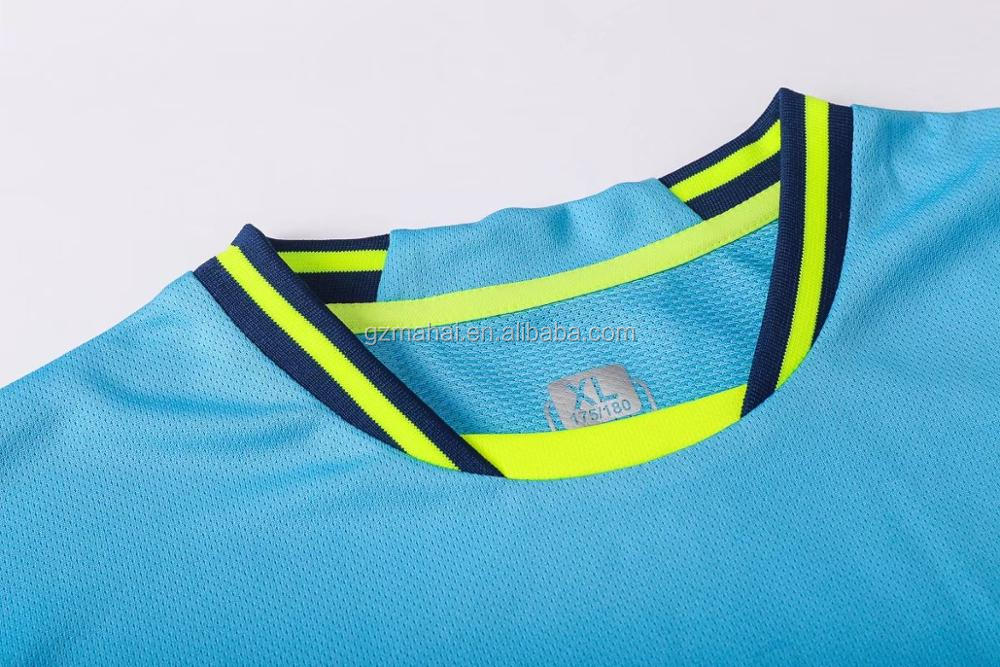 high quality wholesale cheap custom football T shirt blank soccer set sublimation 100% polyester