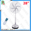 "28"" rechargeable industrial emergency light fan,stand fan with remote"