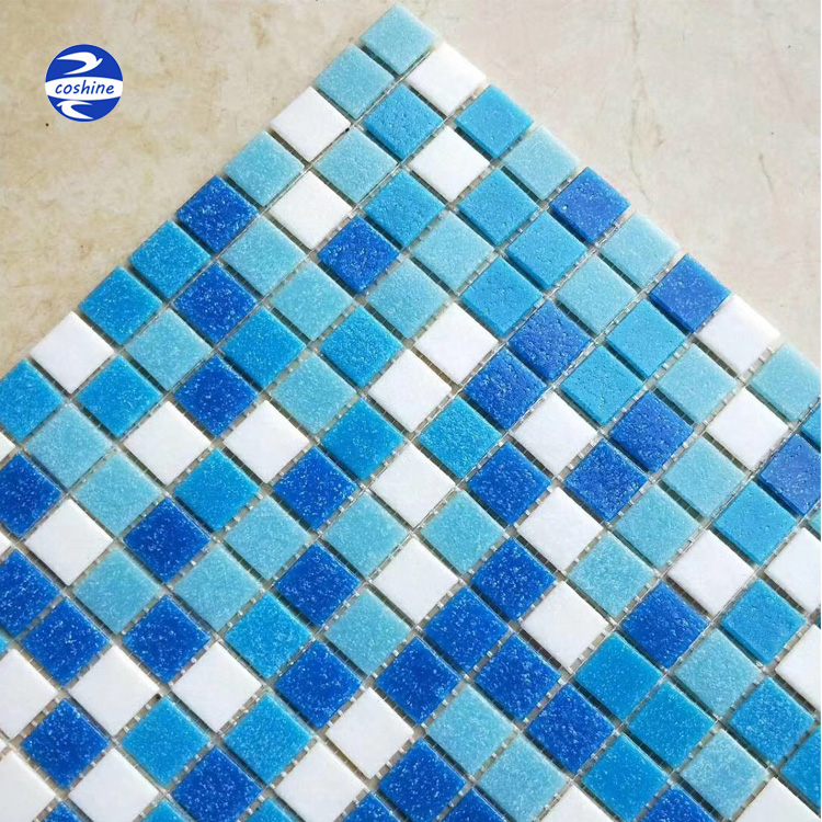 Beautiful Blue White Mixed Color Swimming Pool Crystal Glass Mosaic Tiles  300*300mm - Buy Crystal White Glass Mosaic,Swimming Pool Crystal Glass ...