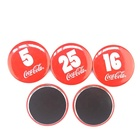 High Quality Custom Small Round Metal numeral Glass Door Fridge Magnet