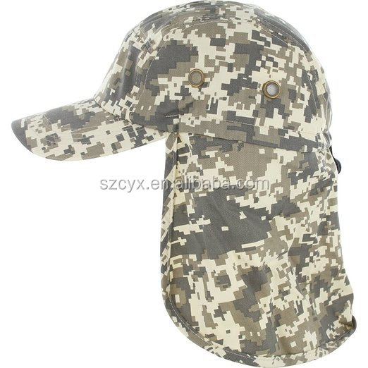 Outdoor Sun Protection Fishing Cap with Ear and Neck Flap Cover