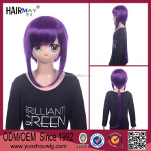Hot sale purple cosplay wig with a pony tail
