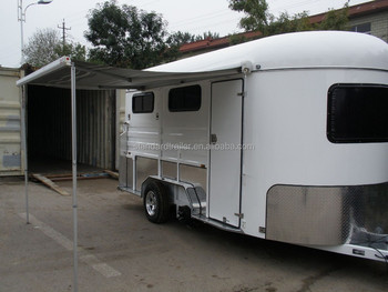 Standard Camping Float 3 Horse Trailer With Awning