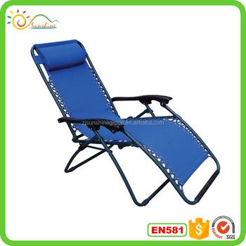 Outdoor Garden Chair Anti Zero Gravity Recliner Lounge Chair Folding Beach  Lounge Chair