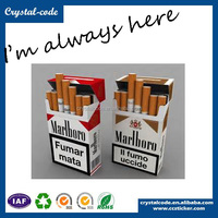 Custom logo printed recycled paper packaging cigarette box