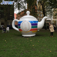 Outdoor advertising inflatable vintage teapot cartoon with logo printing