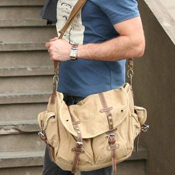 9b7b333a1 2810 Multi Purpose Retro Casual Big Size Canvas Adjustable Strap Messenger  Sling Bag & Shoulder Bag