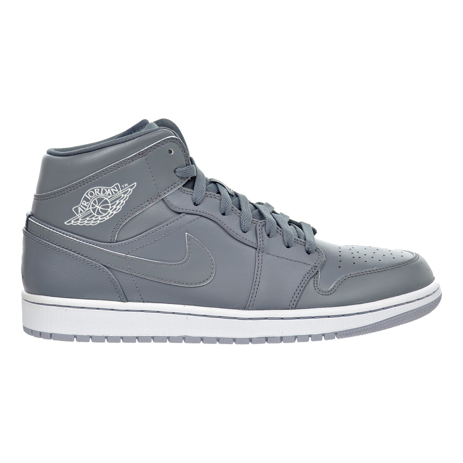 the latest 22a14 25c91 Get Quotations · Air Jordan 1 MID Men s Shoes Cool Grey White Wolf Grey  554724-031