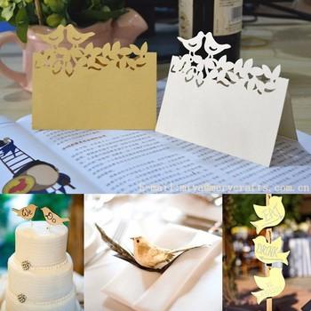 Segnaposto Matrimonio Uccelli.Amore Uccelli Tema Di Nozze Favori Taglio Laser Carta Amore