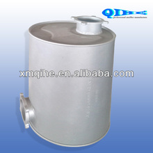 exhaust muffler with glass wool