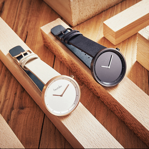 Minimalist vogue style genuine leather strap japan movement brand your own watches