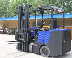 Tuishan brand narrow aisle electric forklift with 2000kg rated load for sale used in narrow track