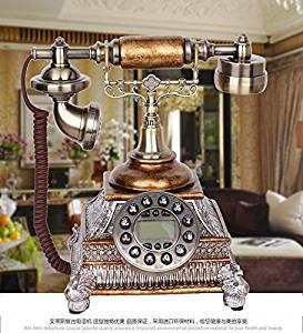 JQYD European classical antique telephones Vintage telephones Vintage Peacock Chinese gifts landline telephone , C