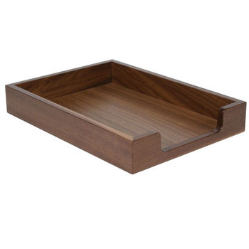 wood letter tray wooden document tray